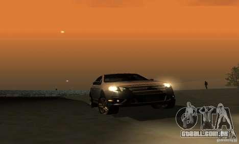 Ford Fusion Sport para GTA San Andreas vista interior