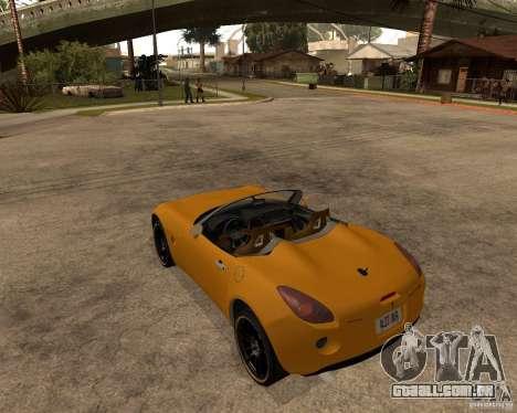 Pontiac Solstice GXP para GTA San Andreas vista direita