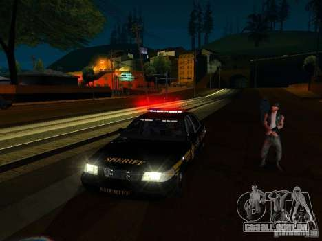 Ford Crown Victoria Erie County Sheriffs Office para GTA San Andreas vista inferior