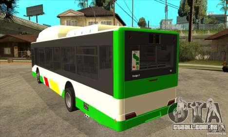 Mercedes Benz MAN Lions City CNG para GTA San Andreas traseira esquerda vista