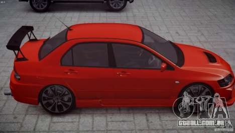 Mitsubishi Lancer Evolution 8 v2.0 para GTA 4 vista de volta