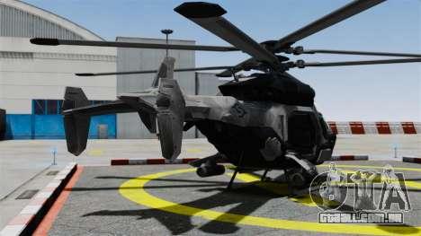 Helicóptero C.E.L.L. para GTA 4 traseira esquerda vista