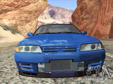 Nissan Skyline GT-R 32 1993 para GTA San Andreas traseira esquerda vista