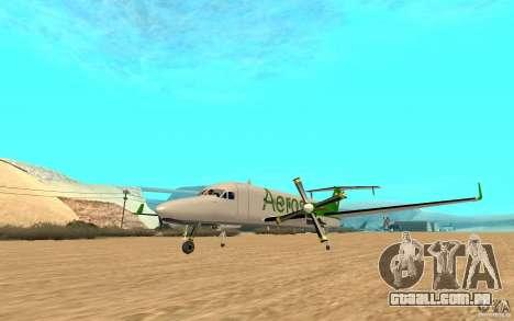 Beechcraft B1900D para GTA San Andreas vista direita