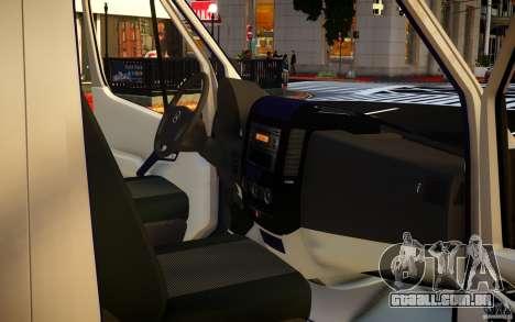 Mercedes-Benz Sprinter Passenger para GTA 4 vista inferior