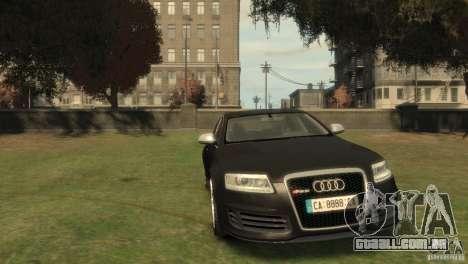 Audi RS6 v.1.1 para GTA 4 vista de volta