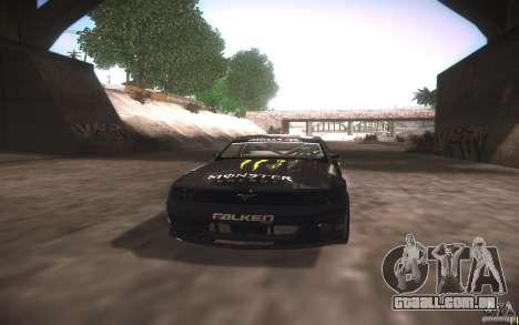 Ford Mustang Monster Energy para GTA San Andreas vista interior