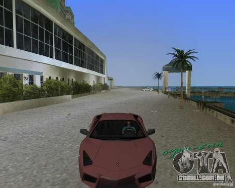Lamborghini Reventon para GTA Vice City vista traseira esquerda