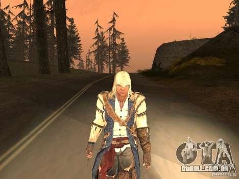 Connor From ACIII para GTA San Andreas sexta tela