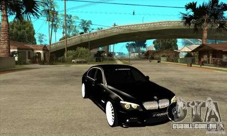BMW 7-er F02 HAMANN 2010 para GTA San Andreas vista traseira