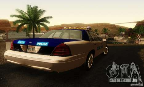 Ford Crown Victoria Virginia Police para GTA San Andreas esquerda vista