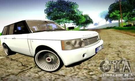 Range Rover Supercharged para GTA San Andreas vista superior