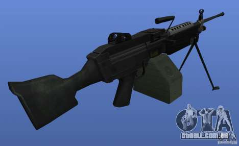 M249SAW metralhadora para GTA 4 terceira tela