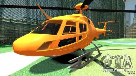 Helicopter From NFS Undercover para GTA 4 esquerda vista