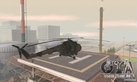 MI-17 para GTA San Andreas esquerda vista