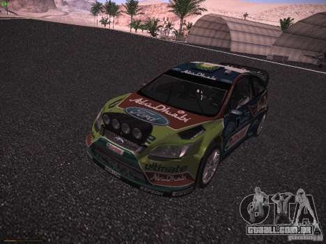 Ford Focus RS WRC 2010 para GTA San Andreas