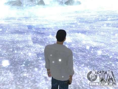 Snow MOD HQ V2.0 para GTA San Andreas por diante tela