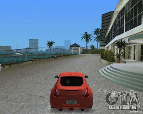 Nissan 370Z para GTA Vice City vista traseira esquerda