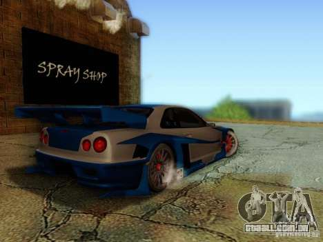 Nissan Skyline GTR34 DTM para GTA San Andreas esquerda vista