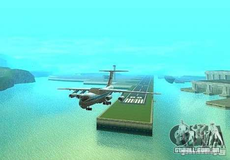 IL 76 m Aeroflot para GTA San Andreas vista direita