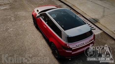 Range Rover Evoque para GTA 4 vista direita