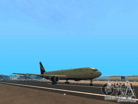Boeing 767-300 Aeroflot para GTA San Andreas esquerda vista