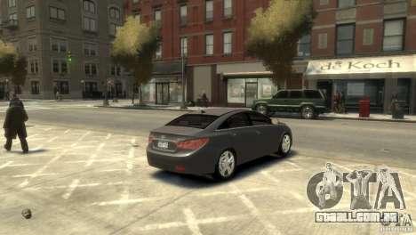 Hyundai Sonata para GTA 4 traseira esquerda vista