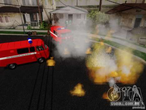 UAZ 3909 fogo para GTA San Andreas vista direita