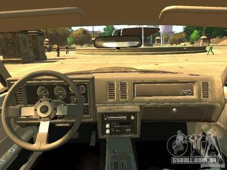 Buick Regal GNX para GTA 4 vista de volta