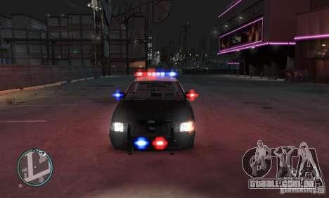 Ford Crown Victoria Police para GTA 4 traseira esquerda vista