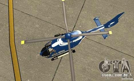 EC-135 Gendarmerie para GTA San Andreas vista traseira