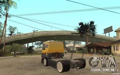 Mercedes Benz Actros Dragster para GTA San Andreas traseira esquerda vista
