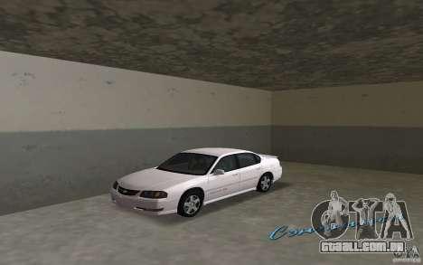 Chevrolet Impala SS 2003 para GTA Vice City deixou vista