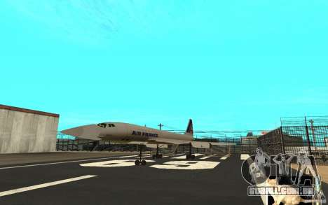 Concorde Air France para GTA San Andreas esquerda vista