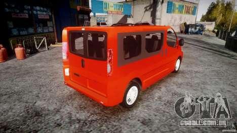 Renault Trafic para GTA 4 vista interior