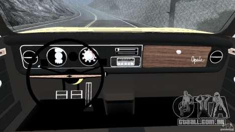 Chevrolet Opala Gran Luxo para GTA 4 vista de volta