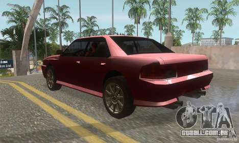 New Sultan HD para GTA San Andreas traseira esquerda vista
