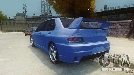 Mitsubishi Lancer Evo 2004 para GTA 4 traseira esquerda vista