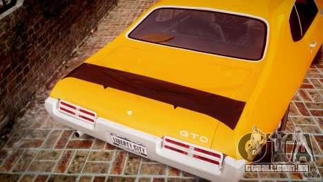 Pontiac GTO Judge para GTA 4 vista inferior