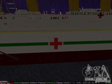 HMHS Britannic para GTA San Andreas vista direita