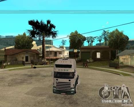 Scania 164L 580 para GTA San Andreas vista traseira