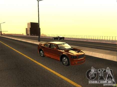 Dodge Charger From NFS CARBON para GTA San Andreas traseira esquerda vista