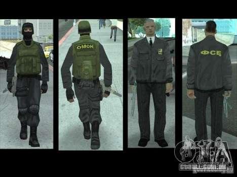 SkinPack substitui PD, exército e uma pele do FB para GTA San Andreas sexta tela