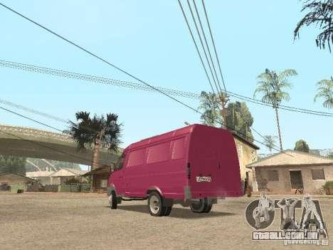 Gazela 2705 para GTA San Andreas interior