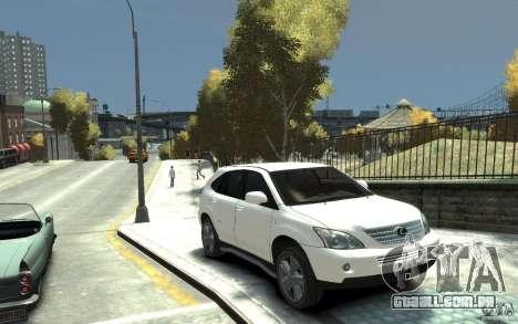 Lexus RX 400h para GTA 4 vista de volta