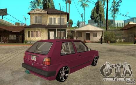 VW Golf 2 GTI para GTA San Andreas vista direita