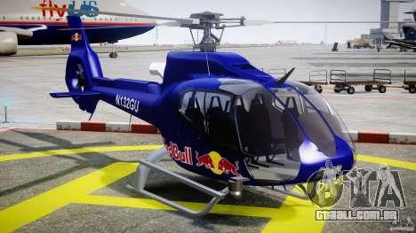 Eurocopter EC130 B4 Red Bull para GTA 4 vista de volta