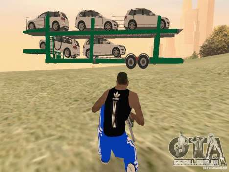 Car Transporter para GTA San Andreas vista direita