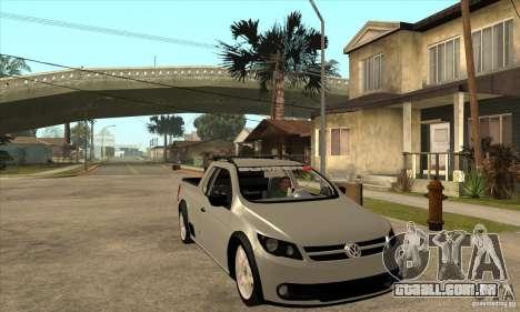 Volkswagen Saveiro G5 para GTA San Andreas vista traseira