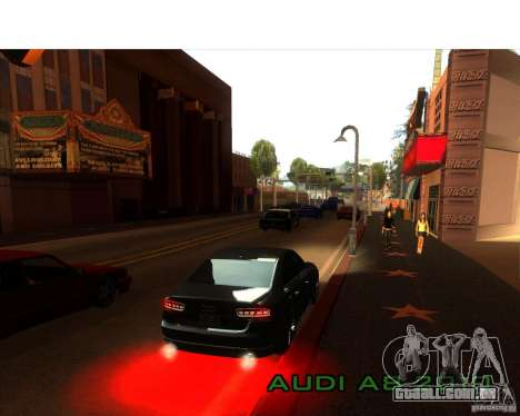 Audi A8 2010 para GTA San Andreas vista interior